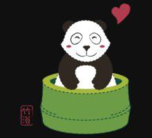 Cute Panda with Bamboo Bathtub  Kids Clothes