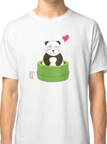 Cute Panda with Bamboo Bathtub  Classic T-Shirt