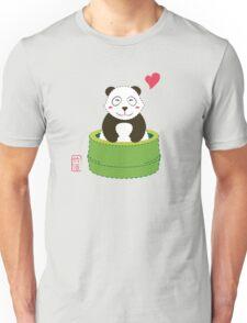 Cute Panda with Bamboo Bathtub  Unisex T-Shirt