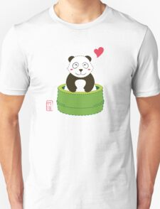 Cute Panda with Bamboo Bathtub  Unisex T-Shirt
