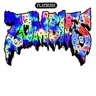 Flatbush ZOMBiES Logo - Multicolored/Blue by Ben McCarthy