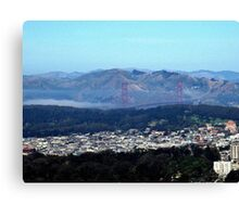 GOLDEN GATE BRIDGE FROM TWIN PEAKS SAN FRANCISCO Canvas Print