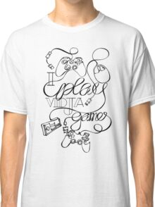 I Play Vidja Games (Black) Classic T-Shirt