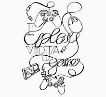 I Play Vidja Games (Black) Men's Baseball ¾ T-Shirt