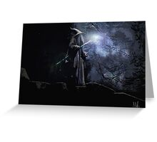 Gandalf The Grey.  Greeting Card