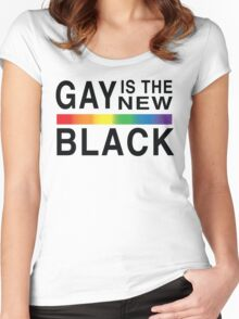 Gay Is the New Black Women's Fitted Scoop T-Shirt