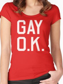 Gay O.K. Women's Fitted Scoop T-Shirt