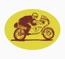 Suzuki Motorcycle Rider as Logo by Daniel Gallegos