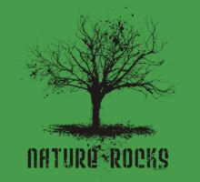 Nature Rocks Black Tree Silhouette  by ArtVixen
