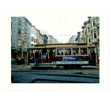 SAN FRANCISCO CABLE CAR IN NORTH BEACH Art Print