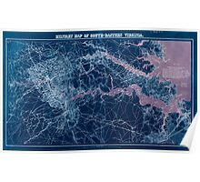 Civil War Maps 1138 Military map of south-eastern Virginia Inverted Poster