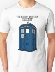 I'm in a Blue Box of Emotion Unisex T-Shirt