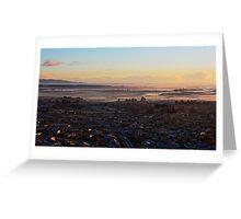 Backyard sunrise 2 Greeting Card