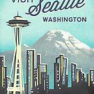 Seattle Space Needle by Jenny Tiffany