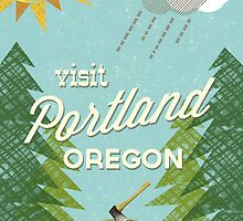 Visit Portland OR by Jenny Tiffany
