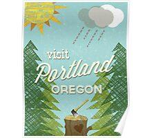Visit Portland OR Poster