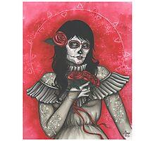 Chelle of the Dead - dia de los muertos Photographic Print