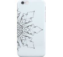 abstract flora flowers circular graphic design iPhone Case/Skin