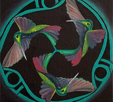 Hummingbird Triskele by Monica Beadles