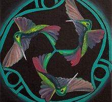 Hummingbird Triskele by Monica Beadles