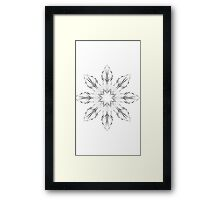 abstract flowers lily floral drawing graphic design Framed Print