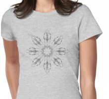 abstract flowers lily floral drawing graphic design Womens Fitted T-Shirt