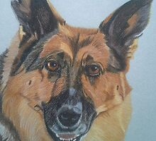 Jessie - German Shepherd Dog Commission by Anita Meistrell Putman