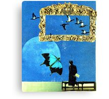 baby discovers surrealism Canvas Print