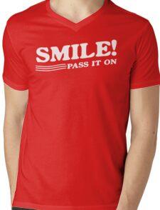 Smile! Pass It On Mens V-Neck T-Shirt