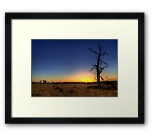 """Sunset Tree"" Framed Print"
