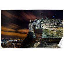Edinburgh castle at night Poster