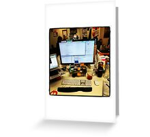 My desk at Redbubble! Greeting Card