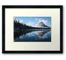 Sinopah Mountain after a Snowstorm Framed Print