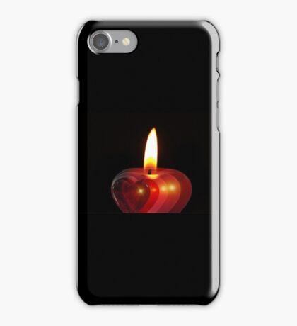 Candle heart 2 iPhone Case/Skin