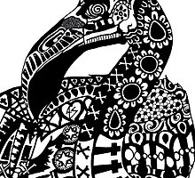 (Day of the) Dead Flamingo B&W by afspeights
