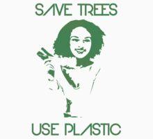 Save Trees Use plastic Baby Tee