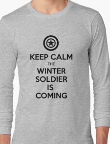 KEEP CALM... The Winter Soldier Is Coming (Black) Long Sleeve T-Shirt