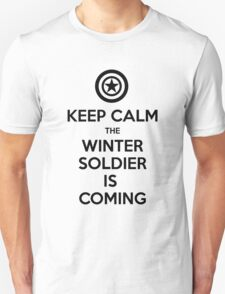 KEEP CALM... The Winter Soldier Is Coming (Black) T-Shirt