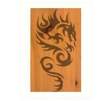 Wood Dragon Art Print