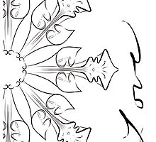 abstract flowers lily floral drawing graphic design by Heidivaught