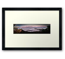 Misty Megalong Valley Framed Print