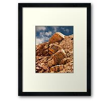 Limestone Boulders and Blue Sky Framed Print