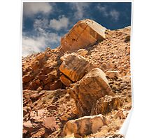 Limestone Boulders and Blue Sky Poster