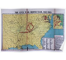 Civil War Maps 1113 McConnell's Historical maps of the United States 02 Poster