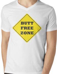 Butt Free Zone Mens V-Neck T-Shirt