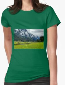 Spring meets winter in the Alps Womens Fitted T-Shirt