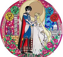 Sailor Moon Serenity and Endymion  by noellelucia713
