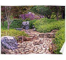 Stone Garden at Canberra-Nara Peace Park Poster