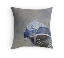 Blue Coble Throw Pillow