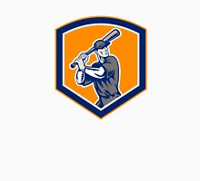 Baseball Batter Batting Shield Retro Unisex T-Shirt